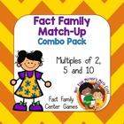 Fact Family Match Up: Multiples of 2, 5 & 10