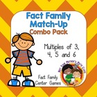 Fact Family Match Up: Multiples of 3, 4, 5 & 6 (Common Cor