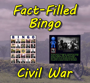 Fact-Filled Bingo - Civil War