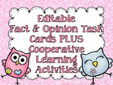 Fact & Opinion Task Cards & Scoot Game with Anchor Charts