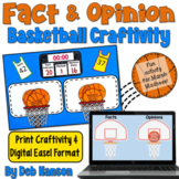 Fact and Opinion Craftivity (featuring basketball and Marc