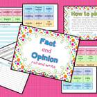 Fact and Opinion Roll and Write