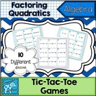 Factor Quadratics Tic-Tac-Toe Games