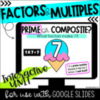 Factors, Multiples & Arrays (multiplication practice pack)