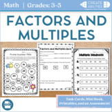 Factors and Multiples MEGA Pack! Mini book, printables and more!