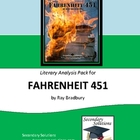 Fahrenheit 451 Literary Analysis Standards Focus Activity Pack