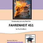 Fahrenheit 451 Vocabulary Activity Pack