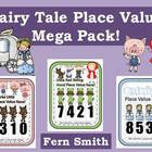 Place Value Race Center Game - Fairy Tale Bundled Mega Pack