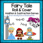 Fairy Tale Roll & Cover Addition & Subtraction Games!