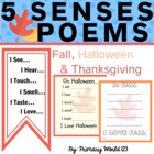 Fall 5 Senses Poems for Fall, Halloween, Thanksgiving