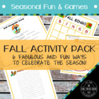 Fall Activity Pack - 6 Fabulous and Fun Ways to Celebrate