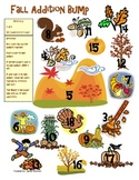 Fall Addition and Subtraction Bump Math Station Game (1.OA