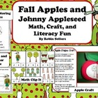 Fall Apples and Johnny Appleseed Math Center, Craftivity a