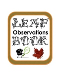 Fall Autumn Leaf Science Observations Book