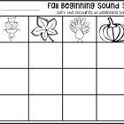 Fall Beginning Sound Sort