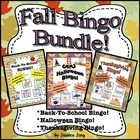 Fall Bingo Bundle! {Back-To-School, Halloween, Thanksgiving}