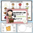Fall Bottle Cap Count it Vocabulary Game {first and second grade}