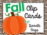 Fall Clip Cards: Numbers, Telling Time, Beg & Ending Sound