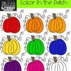 "Fall Pumpkin Clipart ""Color in the Patch"" (for personal an"