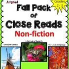 Close Read Pack: Fall Theme ~ Butterfly Life Cycle, Columb