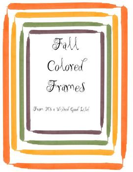 Fall Colored Frames