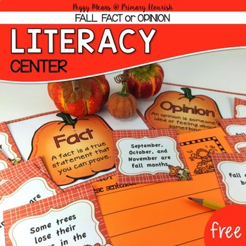 Fall Fact or Opinion Freebie