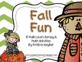 Fall Fun ~ 10 Multi-level Literacy & Math Activities