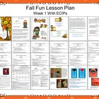 Fall Fun - Lesson Plan Week 1