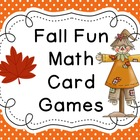 Fall Fun Math Card Games Freebie