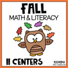 Fall Fun Math and Literacy Centers - Bundled Set