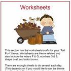 Fall Fun - Worksheets