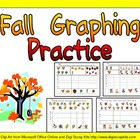 Fall Graphing Practice for Kindergarten