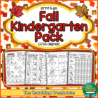 Fall Kindergarten Pack ~ Print & Go ~ CCSS Aligned