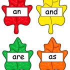 Fall Leaf Sight Word Match