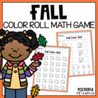 Fall Leaves Color Roll Game -  Math Work Station