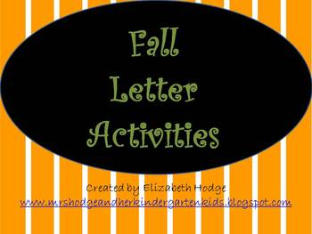 Fall Letter Activities