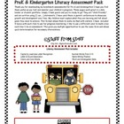 PreK and Kindergarten Literacy Assessment Pack