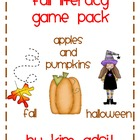 Fall Literacy Game Pack Bundle