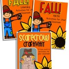 Fall BUNDLE - Literacy, Math, And A Scarecrow Craftivity!