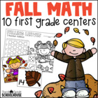 Fall Math Centers First Grade