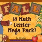 Fall Math Centers Mega Pack!