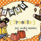 Fall Math{ Freebie }