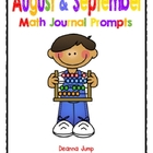 Fall Math Journal Prompts for August and September