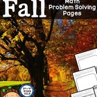 Fall Math Problem Solving Pages - Addition, Subtraction, &