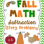 Fall Math Subtraction Story Problems