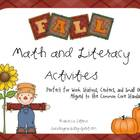 Fall Math and Literacy Activities {Aligned to the Common C
