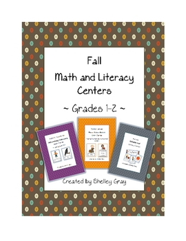 Fall Math and Literacy Centers {Grades 1-2}