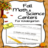 Fall Math and Science Centers for Kindergarten