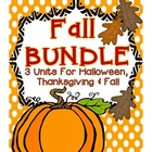 Fall Activities BUNDLE: 3 Fall Units (Fall Into Fall, Hall