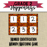 Fall Number Identification Memory Game